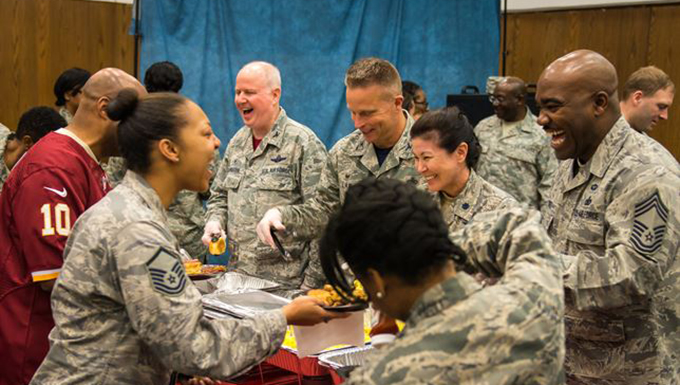 459th Commanders serve breakfast to attendees